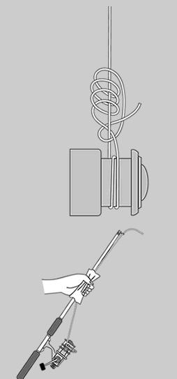 主线与鱼线轮连结方法(主线与线杯的打结方法图解